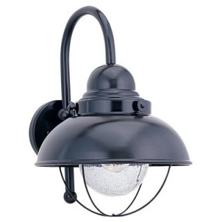 Sea Gull Lighting Sebring Outdoor Wall Lantern in Black