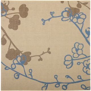 Safavieh Courtyard Natural Brown / Blue Rug   CY4038B 7SQ