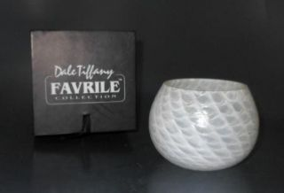 Dale Tiffany Favrile Glass Vase Candle Cup and Case