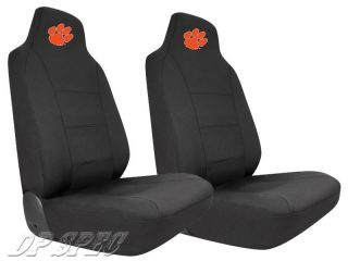 2X CLEMSON UNIVERSITY TIGERS NCAA NEOPRENE SEAT COVER FORD CAR & SUV