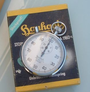 Vintage 60s Hanhart mint NOS 7j German stop watch