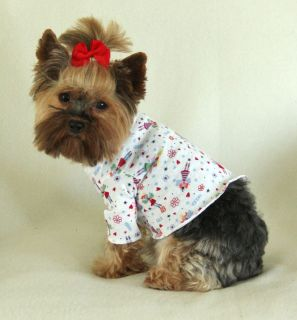 Happy Flowers and Fairies Dog Turtleneck Shirt Clothes Pet Apparel