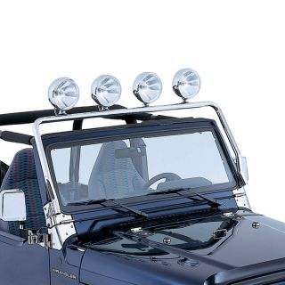 11138 01 Rugged Ridge Stainless Steel Light Bar Jeep Wrangler TJ 1997