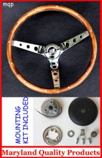 New 1969 1993 Buick Skylark GS Grant Wood Steering Wheel Walnut 13 5