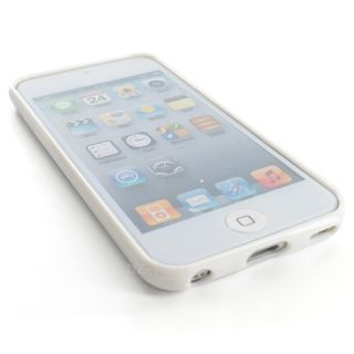 White Clear Hard Gel Hybrid TPU Candy Case Cover Apple iPod Touch 5 5G