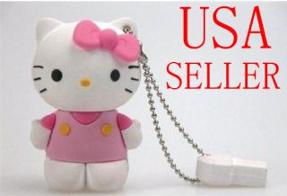 Hello Kitty 8 GB USB Memory Stick Flash Drive Keychain
