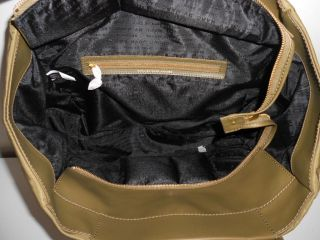 HANDBAG OLIVE GREEN PREPPY NYLON LEATHER HAYLEY X LARGE TOTE NWT