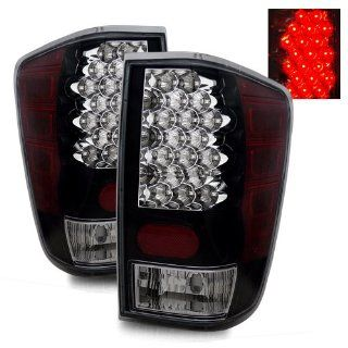 Nissan Titan 2004 2009 LED Tail Lights Black (Fits LE, SE, XE Crew