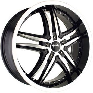 Mazzi Smoke 18x7.5 Machined Black Wheel / Rim 4x100 & 4x4.5 with a