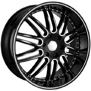 Menzari Noire 22x10.5 Black Wheel / Rim 5x112 with a 35mm Offset and a