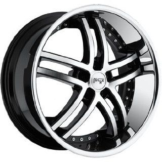 Niche Essence 22x9 Machined Black Wheel / Rim 5x120 with a 38mm Offset