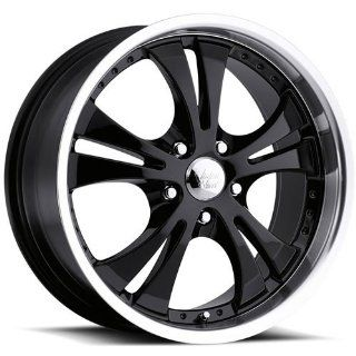 Vision Shockwave 15 Black Wheel / Rim 5x100 with a 38mm Offset and a