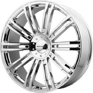 KMC KM677 22x9.5 Chrome Wheel / Rim 5x4.5 & 5x120 with a 35mm Offset