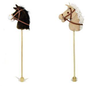 Brown Beige Hobby Horse with Sound Kids Toys New