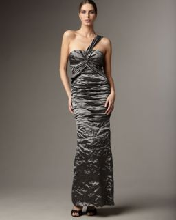 Nicole Miller Ruched Mermaid Gown