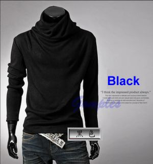 New Hot Fashion Mens Rotary Heap Collar Knitting Sweater Pullover