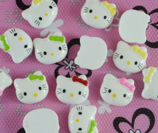 20pcs Mix Resin Hello Kitty Cat Flat Back Cabochons T276