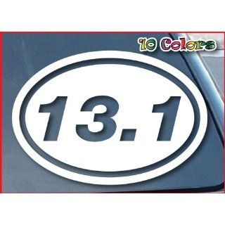 13.1 Marathon Euro Oval Car Window Vinyl Decal Sticker 8