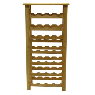 wine rack holder shelf natural color 37 high new by winsome wood