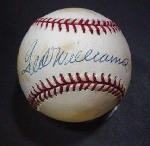 Red Sox Autographed Obal Baseball John Henry Williams Cert