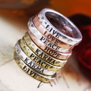 Styles Vintage Ring Size 6 5 Wishes Hope Love Live Karma Gift