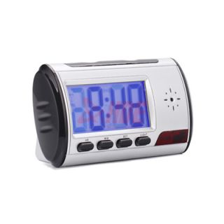 Hidden Remote Digital Alarm Clock Surveillance Nanny Cam Camera Video
