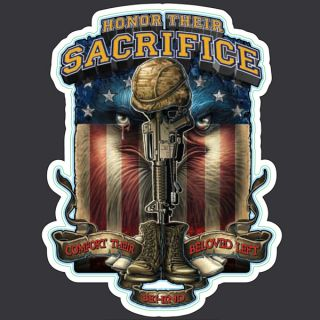 HONOR THEIR SACRIFICE USA ARMY MILITARY MINI VINYL STICKER DECAL