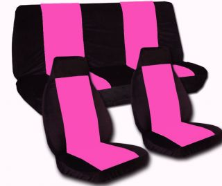 Jeep wrangler TJ blk hot pink front rear car seat covers MORE COLORS