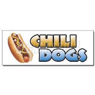 48 CHILI DOGS DECAL sticker hot dog cart stand