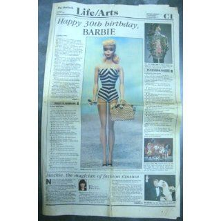 Happy Birthday Barbie 1989 March 9 Newspaper The Outlook
