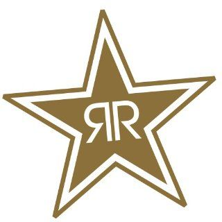 Rockstar Energy Drink Gold Sticker RR Rock Star logo racing dirt bike