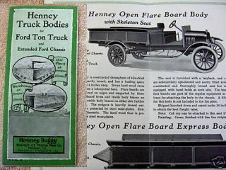 1910s Henney Model T Ford Truck Bodies Brochure