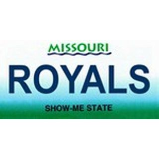 Missouri State Background License Plates   Royals Plate