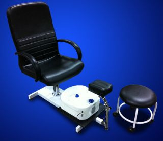 New Pedicure Station Chair Foot Spa Unit with Free Stool Beauty Salon