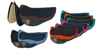 Pri Premium Double Back Fleece Western Suede Barrel Saddle Pad