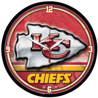 Kansas City Chiefs NFL Round Wall Clock