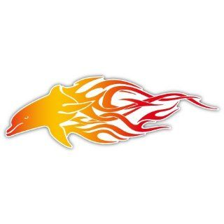 Dolphin on Fire Auto Styling Car Bumper Sticker Decal 6 X