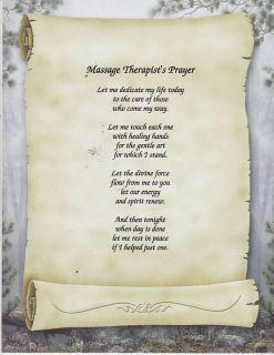 Massage Therapist Prayer Personalized Poem Name Print
