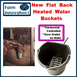 FI HEATED ELECTRIC LIVESTOCK HORSE FLAT BACK BUCKET WATER BOWL WATERER