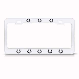 HORSESHOE SHOE HORSE METAL LICENSE PLATE FRAME TAG HOLDER