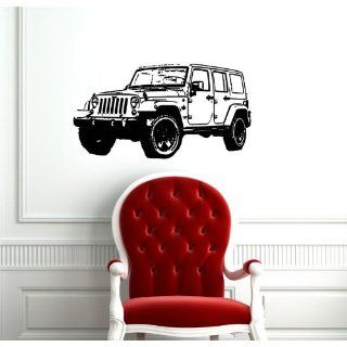 Jeep Wrangler Unlimited Car Cute Design Wall Vinyl Sticker