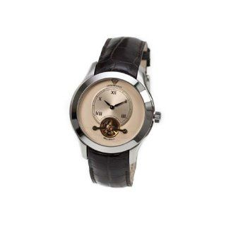 Emporio Armani Meccanico Brown Leather Strap Automatic Mens Watch