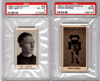 1933 V129 ANONYMOUS #41 HOWIE MORENZ PSA 2 TOUGH SERIES HARDLY EVER