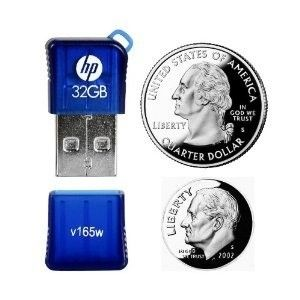 HP 32 GB Mini Mobile USB Flash Drive V165W P FD32GHP165 EF