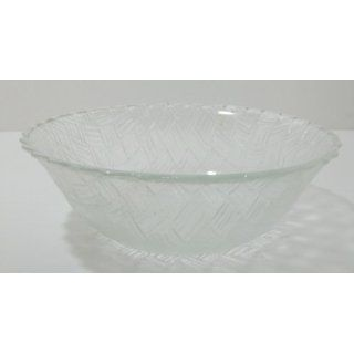 Vintage Indiana Glass Weavetex Clear 9 Bowl Everything