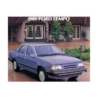 1986 Ford Tempo Sales Brochure Literature Book Piece Dealer