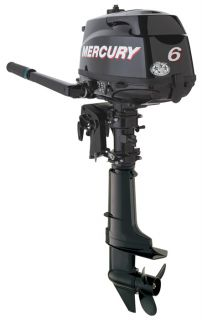 Mercury 6 HP 4 Stroke Outboard Motor Tiller 20 Shaft Boat Engine Is