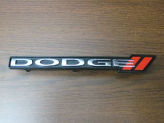 New O E M 2012 Dodge Charger Red Stripe Front Grill Emblem Nameplate