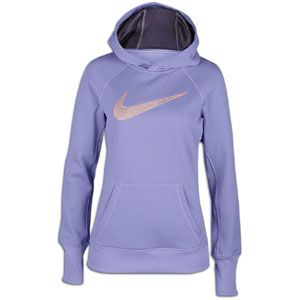 Nike All Time Swoosh Out Hoodie   Womens   Medium Violet/Dark Plum