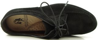 Hush Puppies Lifetime Black Suede Womens Shoes Lace Up Oxfords 6 EUR